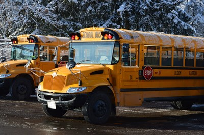 snow school bus
