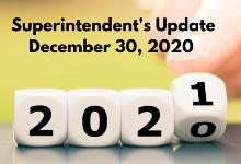 Update - December 30, 2020