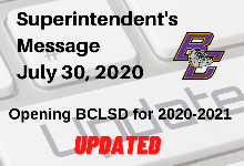 Superintendent's Update: Hybrid Yellow Status