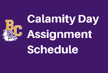 K-12 Calamity Day Assignments