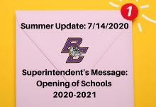 Summer Update - 7/14/2020
