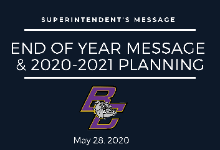 End of Year Message & 2020-2021 Planning