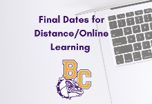 Final Dates for Distance/Online Learning