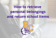 Retrieving Personal Belongings & Returning School Items