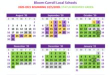 Green Status Calendar