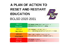 BCLSD Plan of Action to Reset and Restart Education