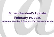 Superintendent's Update: February 19, 2021