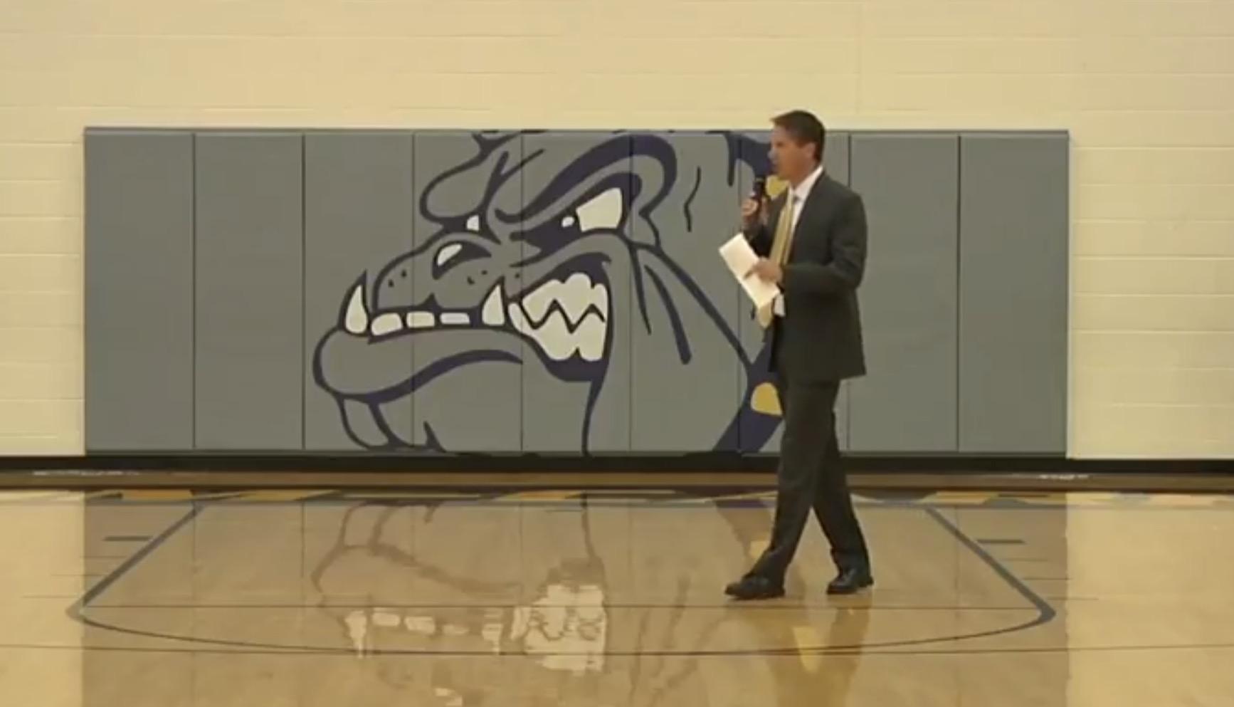 Mr. Haughn addresses opening crowd