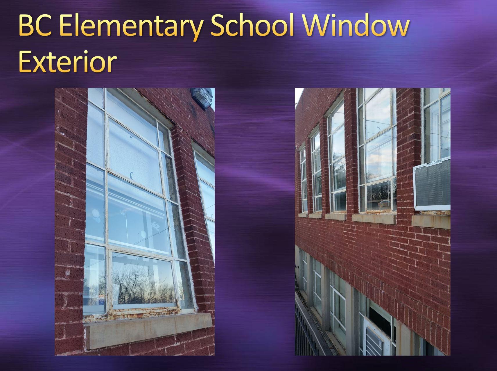 BC Elementary School Window Exterior View