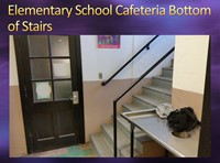 Elementary School Cafeteria Bottom of Stairs