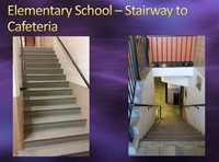 Elementary School-Stairway to Cafeteria