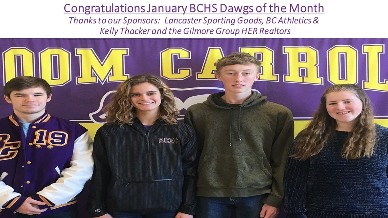January DAWGS of the Month