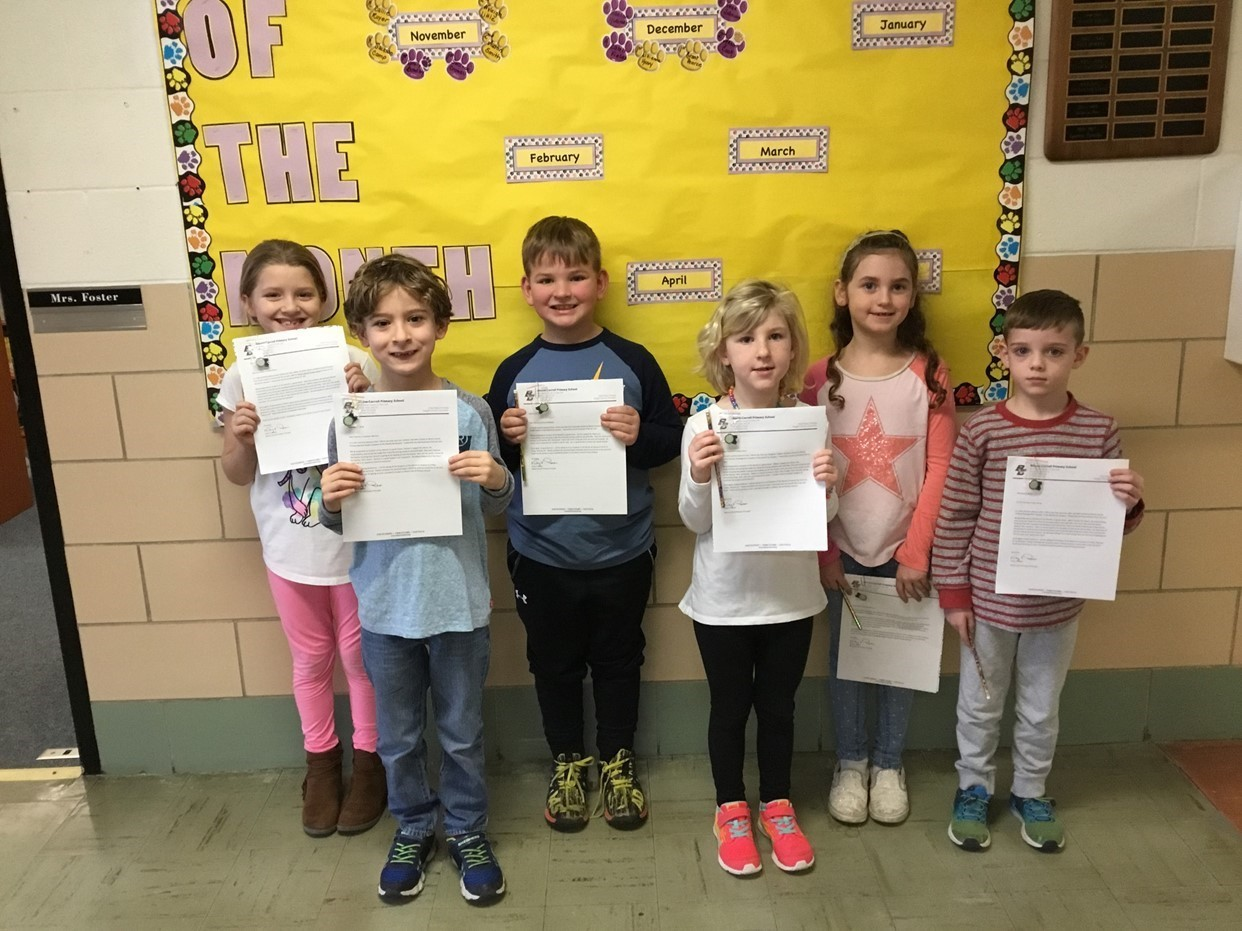 January Students of the Month
