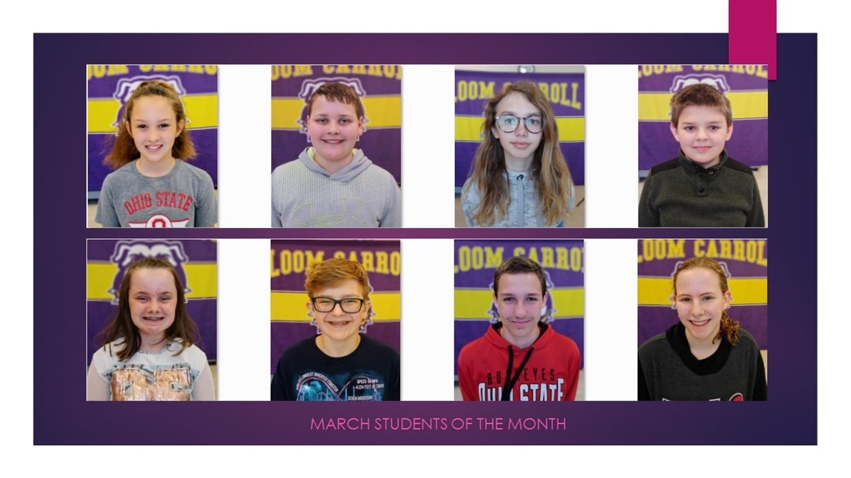 March Students of the Month